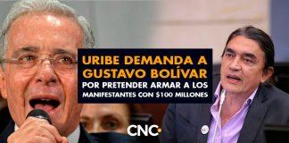Uribe a través de su abogado, demanda a Gustavo Bolívar por pretender armar a los manifestantes con $100 millones
