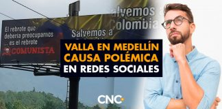 Valla en Medellín causa POLÉMICA en Redes Sociales