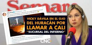 """Vicky Dávila en el ojo del huracán por llamar a Cali """"Sucursal del infierno"""""""