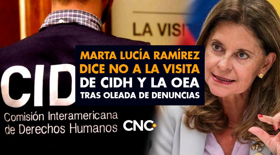 Marta Lucía Ramírez dice NO a la visita de CIDH y la OEA tras oleada de denuncias de la ciudadanía