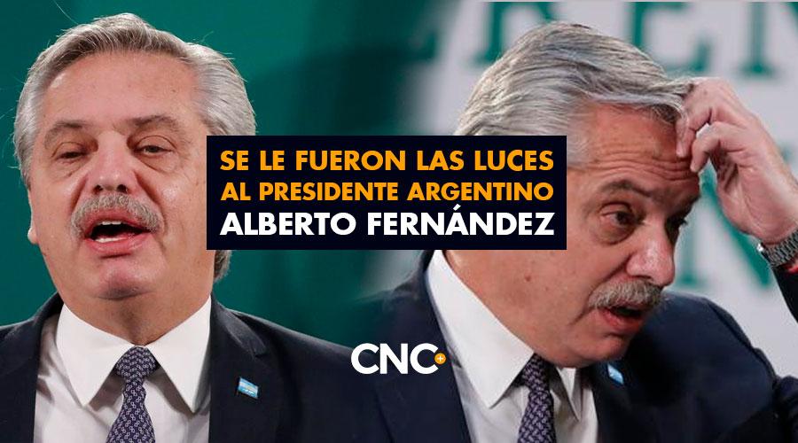 Se le fueron las luces al presidente argentino Alberto Fernández