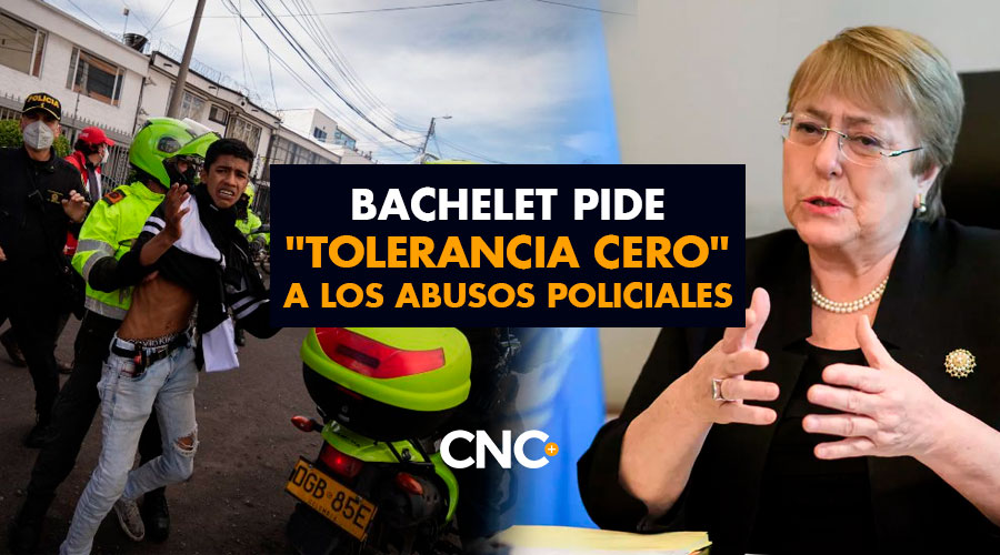 """Bachelet condena la violencia en manifestaciones de Colombia y pide """"tolerancia cero"""" a los abusos policiales"""