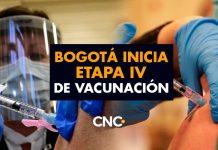 Bogotá inicia Etapa IV de vacunación