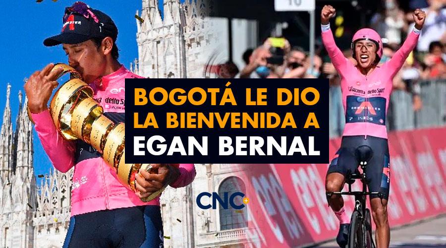 Bogotá le dio la Bienvenida a Egan Bernal