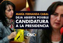 María Fernanda Cabal busca ser la más votada para el congreso y deja abierta posible candidatura a la presidencia