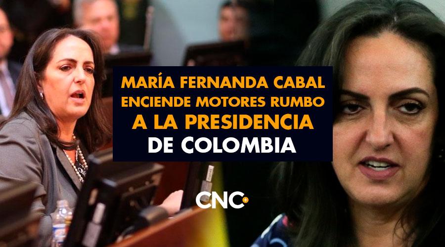 María Fernanda Cabal enciende motores rumbo a la Presidencia de Colombia