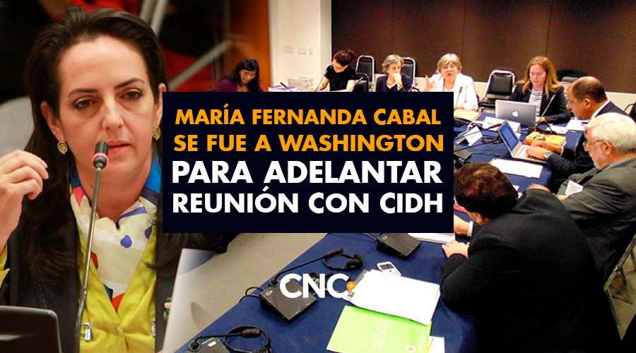 María Fernanda Cabal se fue a Washington para adelantar reunión con CIDH