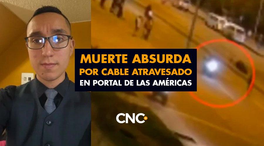 Muerte ABSURDA de joven por Cable atravesado en Portal de las Américas