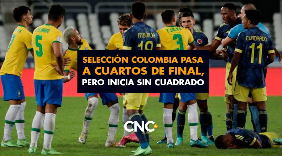 Selección Colombia pasa a Cuartos de Final, pero inicia sin Cuadrado