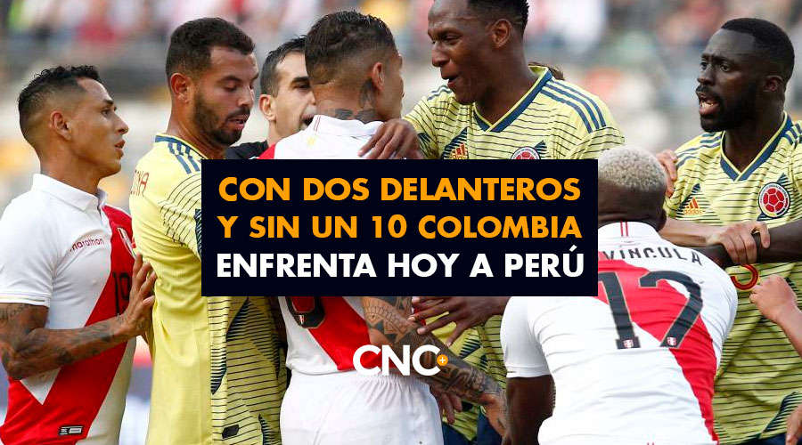 Con dos delanteros y sin un 10 Colombia enfrenta hoy a Perú
