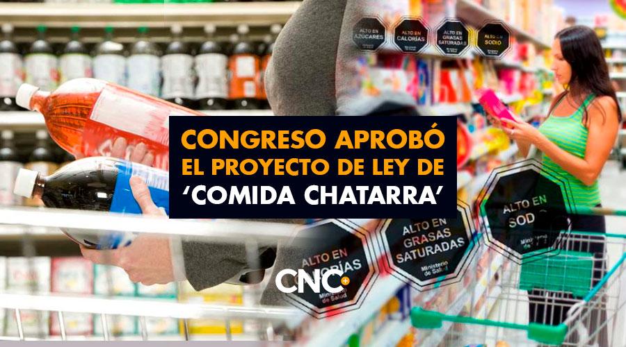 Congreso aprobó el proyecto de ley de 'COMIDA CHATARRA'