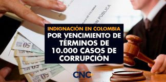 INDIGNACIÓN en Colombia por VENCIMIENTO de Términos de 10.000 casos de CORRUPCIÓN