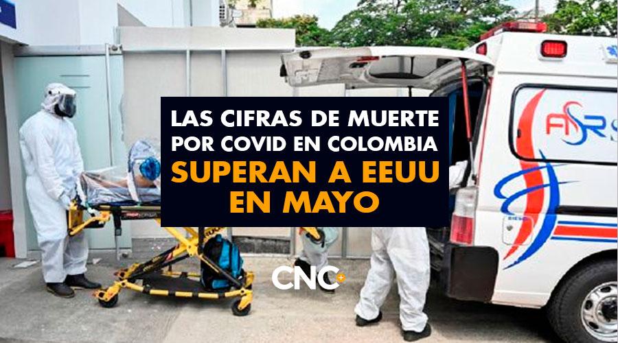 Las cifras de muerte por Covid en Colombia superan a EEUU en Mayo