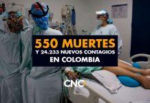 550 Muertes y 24.233 Nuevos Contagios en Colombia