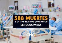 588 Muertes y 24.376 Nuevos Contagios en Colombia