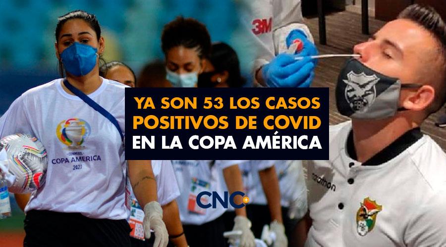 Ya son 53 los casos positivos de Covid en la Copa América