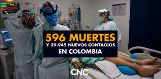 596 Muertes y 29.945 Nuevos Contagios en Colombia