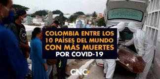 Colombia entre los 10 países del mundo con más MUERTES por covid-19