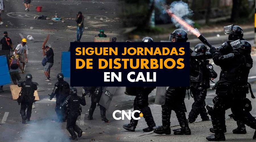 Siguen jornadas de disturbios en Cali