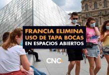 Francia elimina su uso de Tapa Bocas en espacios abiertos