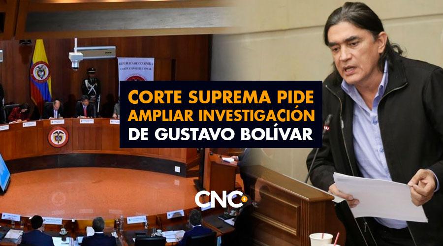 Corte Suprema pide ampliar investigación de Gustavo Bolívar