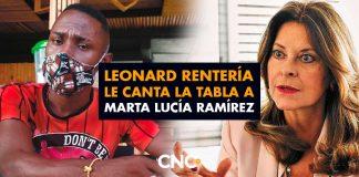 Leonard Rentería le canta la tabla a Marta Lucía Ramírez