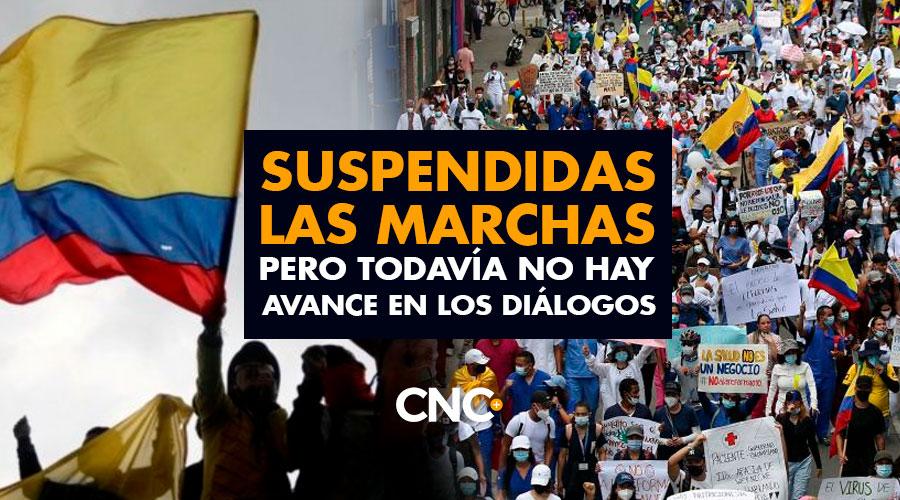 Suspendidas las marchas pero todavía no hay avance en los diálogos