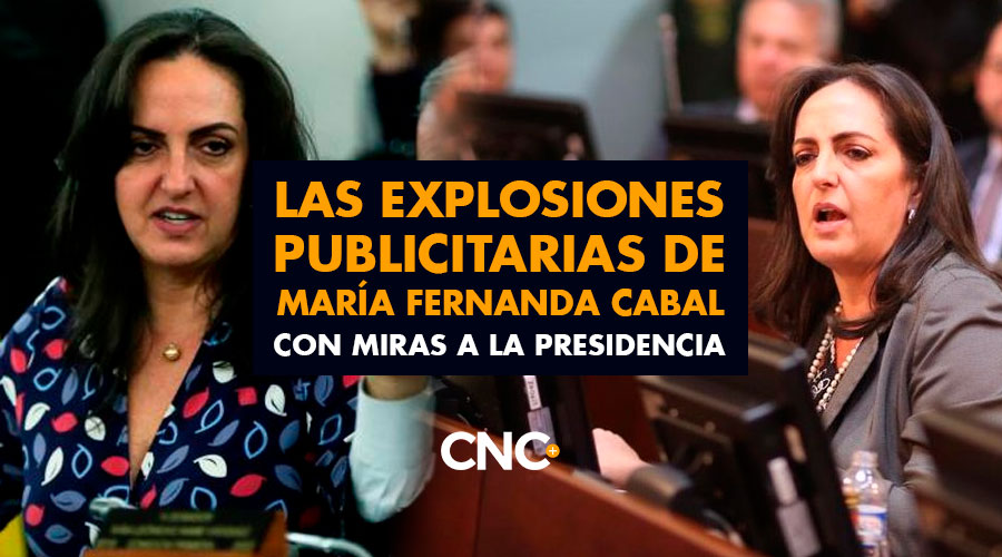 Las explosiones publicitarias de María Fernanda Cabal con miras a la presidencia