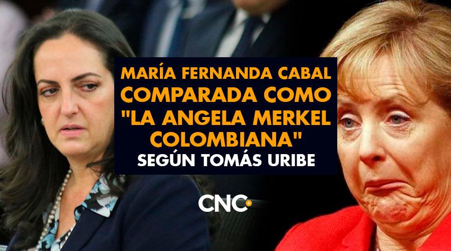 """María Fernanda Cabal comparada como """"La Angela Merkel colombiana"""" según Tomás Uribe"""