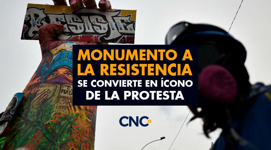 Monumento a LA RESISTENCIA en Cali se convierte en ícono de la Protesta