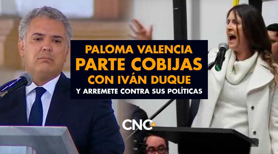 Paloma Valencia parte COBIJAS con Iván Duque y arremete contra sus políticas
