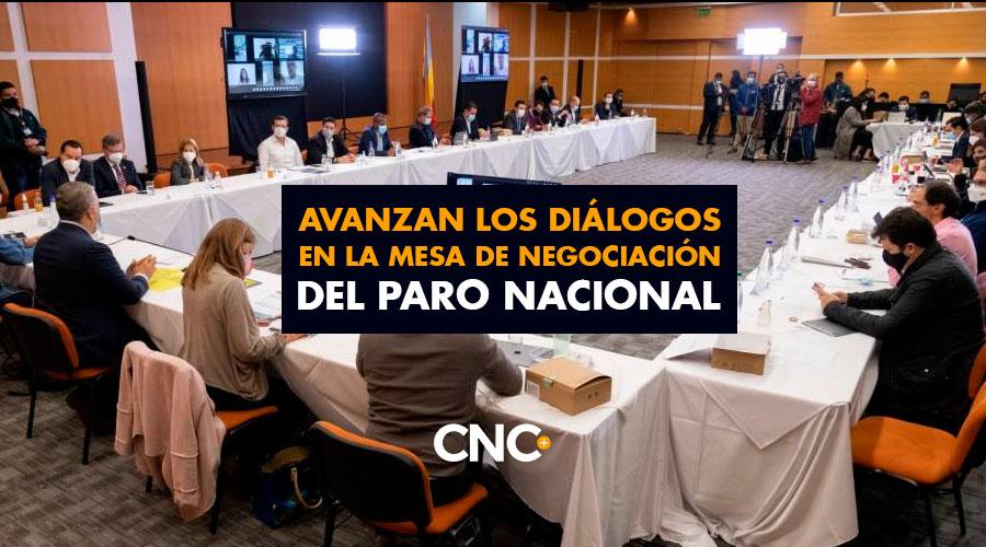 Avanzan los diálogos en la Mesa de Negociación del Paro Nacional