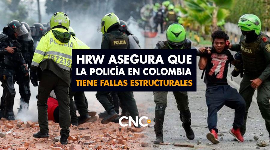 HRW asegura que la policía en Colombia tiene fallas estructurales