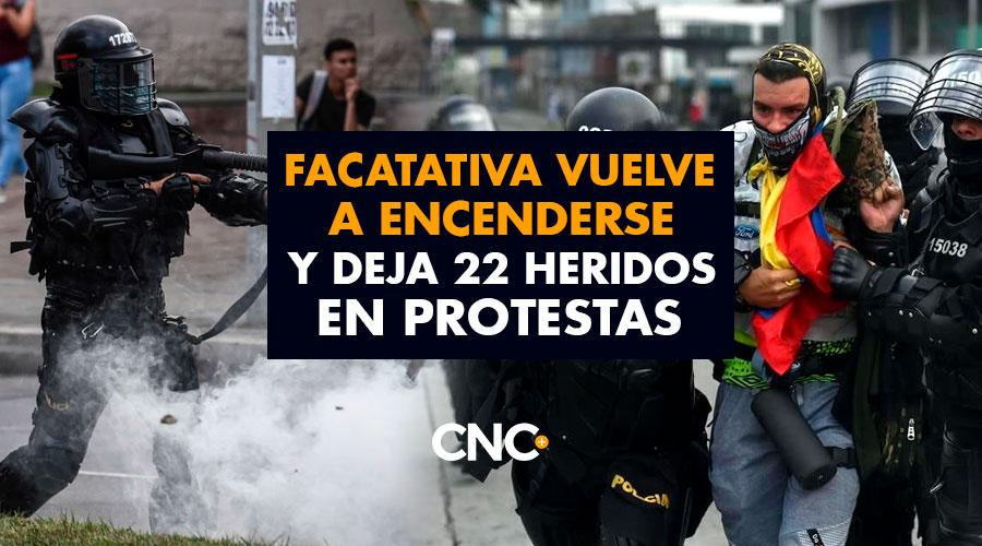 FACATATIVA vuelve a encenderse y deja 22 heridos en protestas