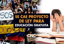 Se CAE Proyecto de Ley para Educación GRATUITA