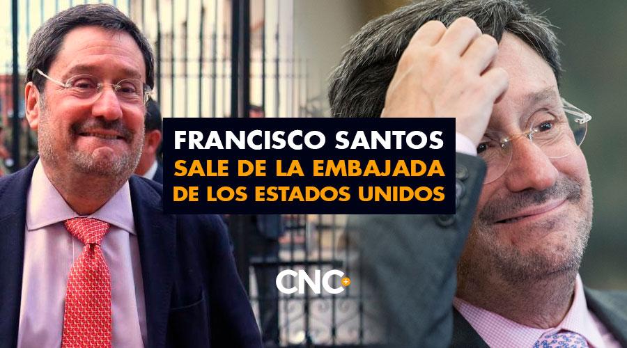 Francisco Santos sale de la Embajada de los Estados Unidos