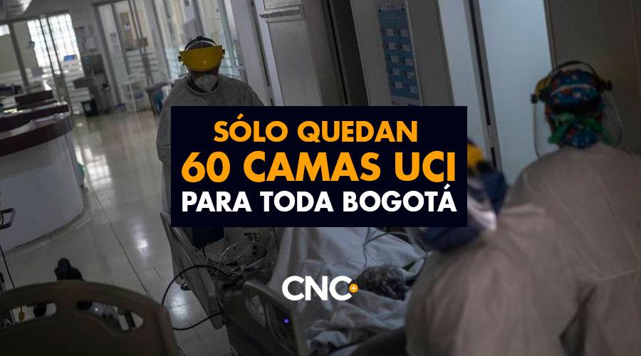 Sólo quedan 60 camas UCI para toda Bogotá