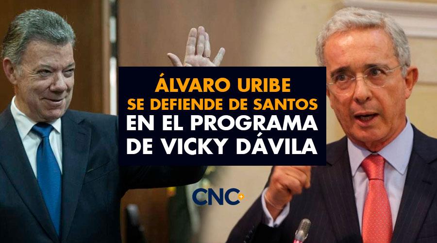 Álvaro Uribe se defiende de Santos en el programa de Vicky Dávila