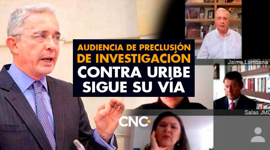 Audiencia de preclusión de investigación contra Uribe sigue su vía