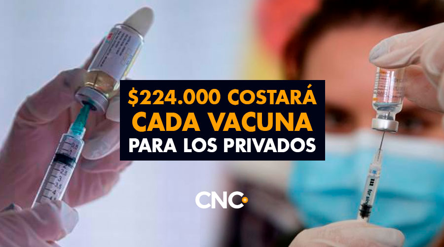 $224.000 Costará cada Vacuna para los Privados