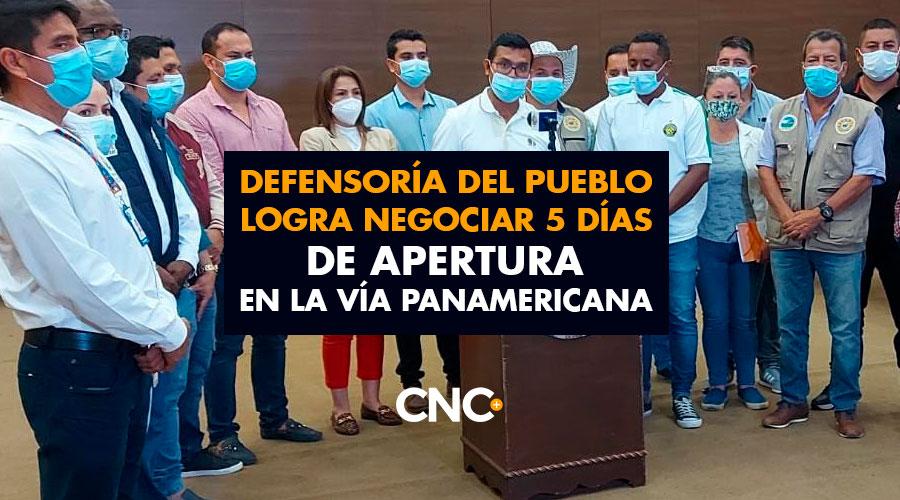 Defensoría del Pueblo logra negociar 5 días de apertura en la vía Panamericana
