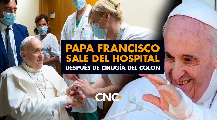 Papa Francisco sale del Hospital después de cirugía del Colon