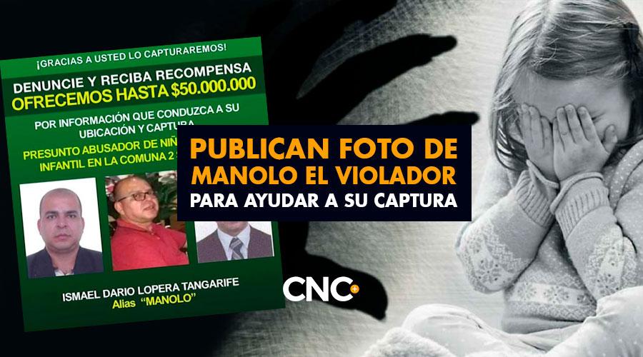 Publican foto de MANOLO el violador para ayudar a su captura