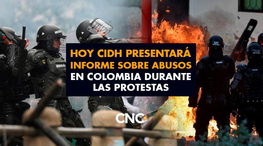 Hoy CIDH presentará informe sobre abusos en Colombia durante las protestas