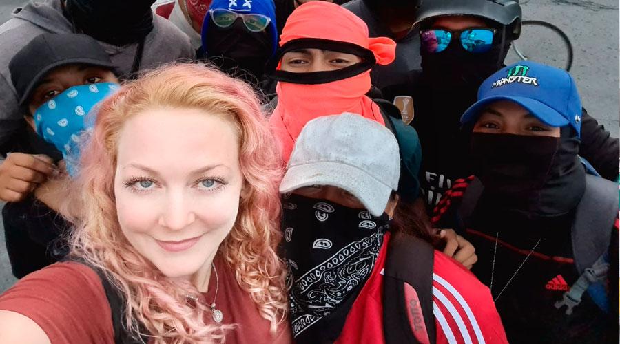 La joven Alemana que se unió a la Primera línea denuncia amenaza de muerte