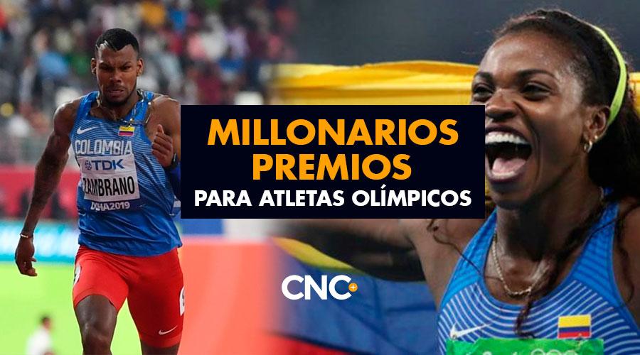 Millonarios Premios para Atletas Olímpicos