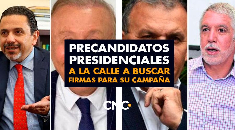 Precandidatos Presidenciales a la calle a buscar firmas para su campaña