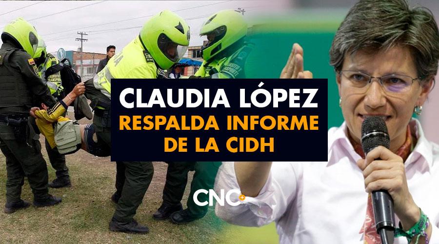Claudia López respalda informe de la CIDH