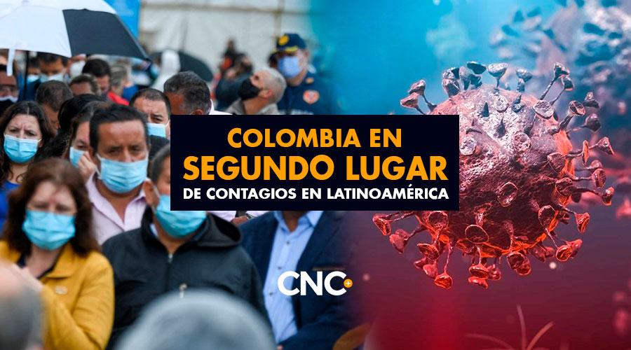 Colombia en SEGUNDO lugar de contagios en Latinoamérica