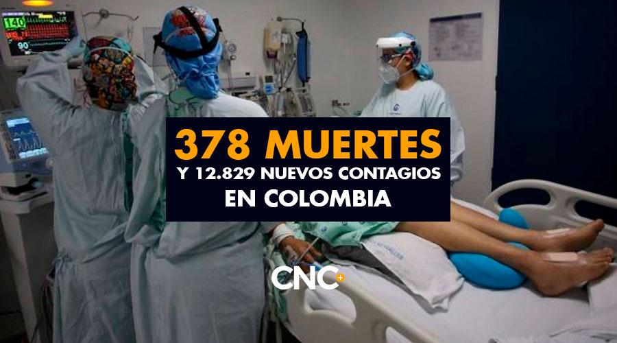 378 Muertes y 12.829 Nuevos Contagios en Colombia